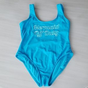 NWOT Turquoise One Piece Bathing Suit